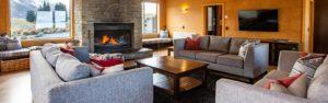 Lake Ohau Quarters - Lounge & Kitchen